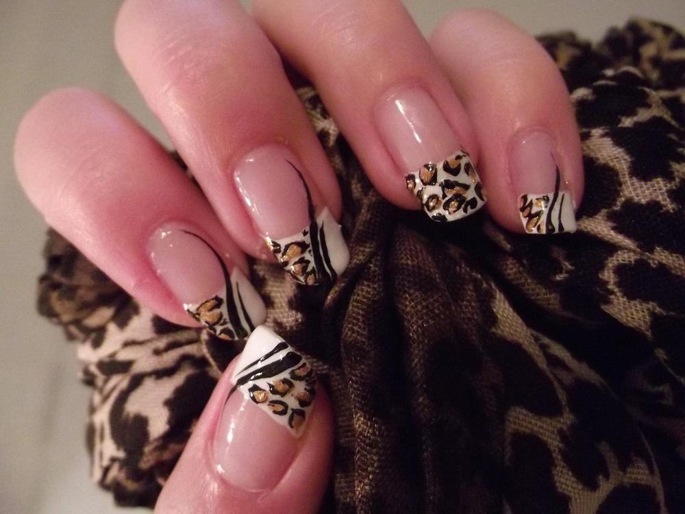 Френч, леопардовый дизайн