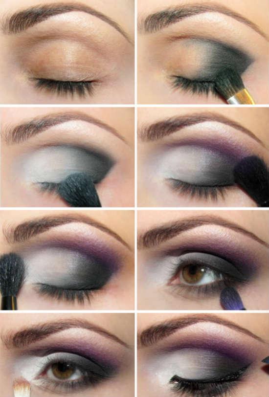 Вечерний макияж для карих глаз пошагово