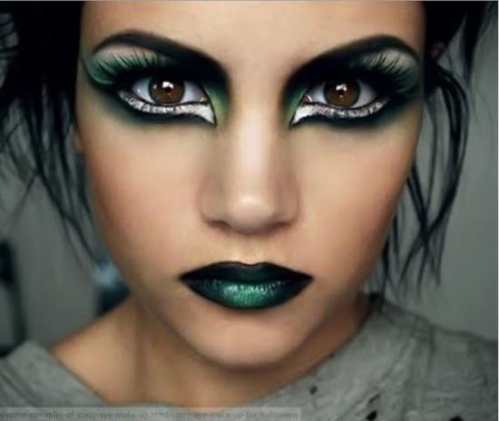 Панк рок макияж
