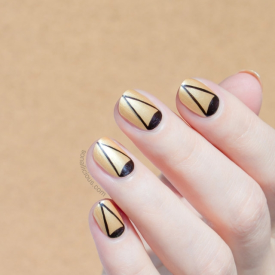 Лунный маникюр на коротких ногтях фото