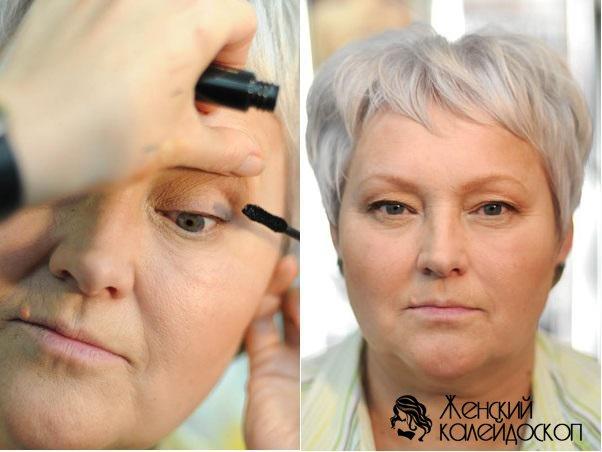Как выполнить макияж для женщины 50 лет пошагово?