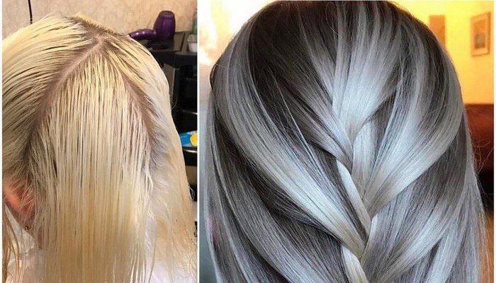 Необычное тонирование волос
