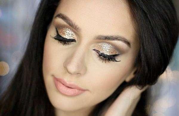 Ретро макияж для карих глаз