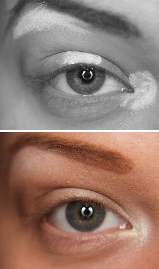 Хитрости макияжа - расположение бликов в макияже глаз