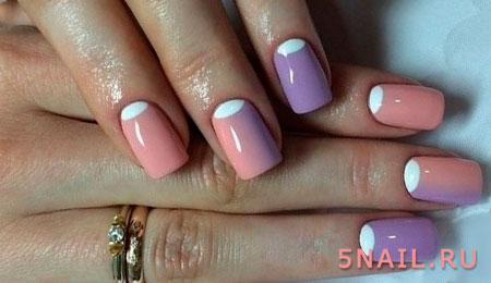 короткие ногти с белыми лунками