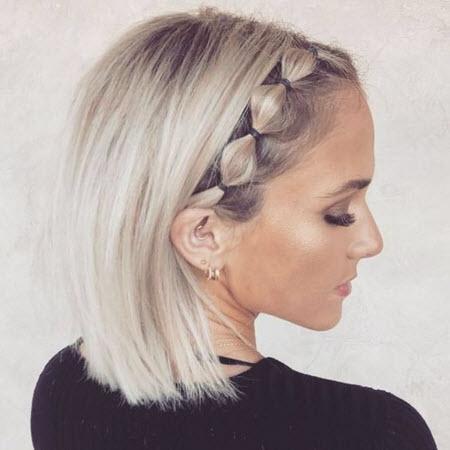 Красивые и модные прически на короткие волосы