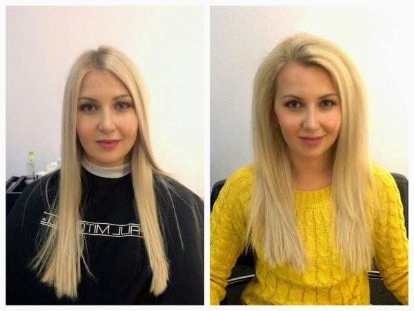 Прикорневая химия для объема волос: фото до и после