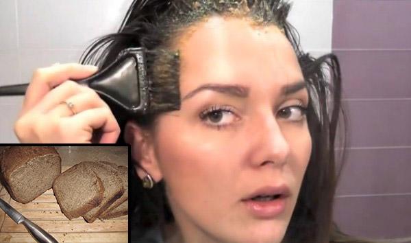 Хлебная маска для волос