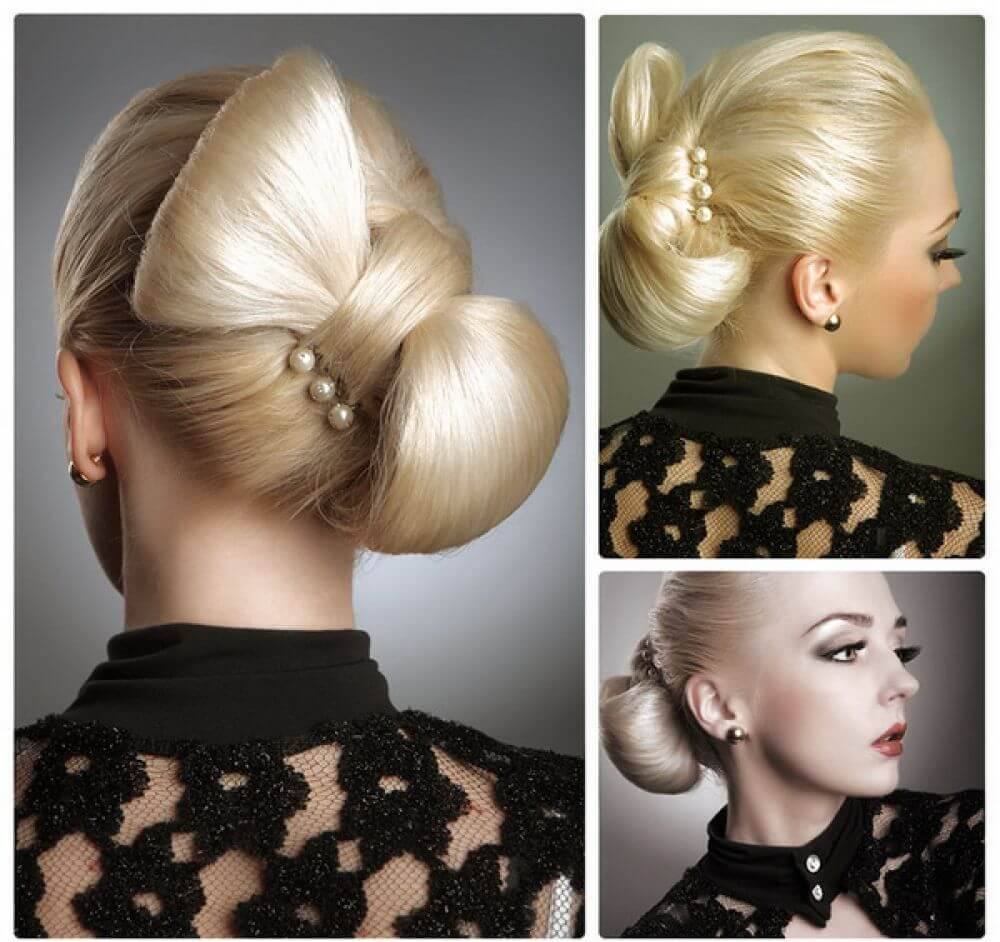 прическа бантик из собственных волос пошаговая инструкция