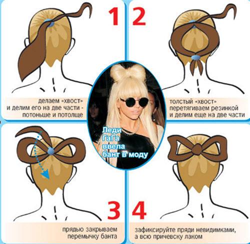 Прическа бант из волос 1 способ с фото и видео инструкциями