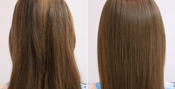 Бесцветное биоламинирование волос
