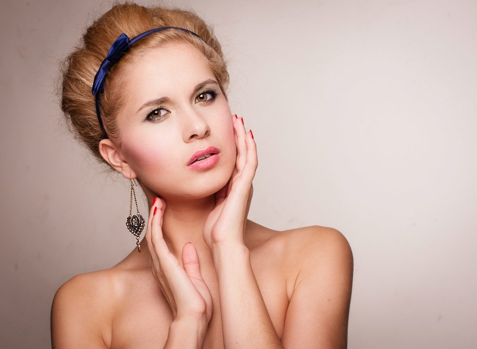 Блондинка-дневной-макияж-спб