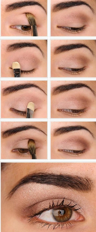 brown eyes simple makeup