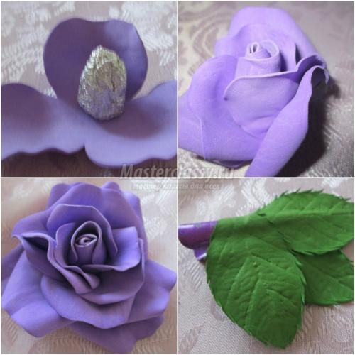 Как сделать цветы из фоамирана своими руками пошагово для начинающих. Как сделать цветы из фоамирана – мастер-класс