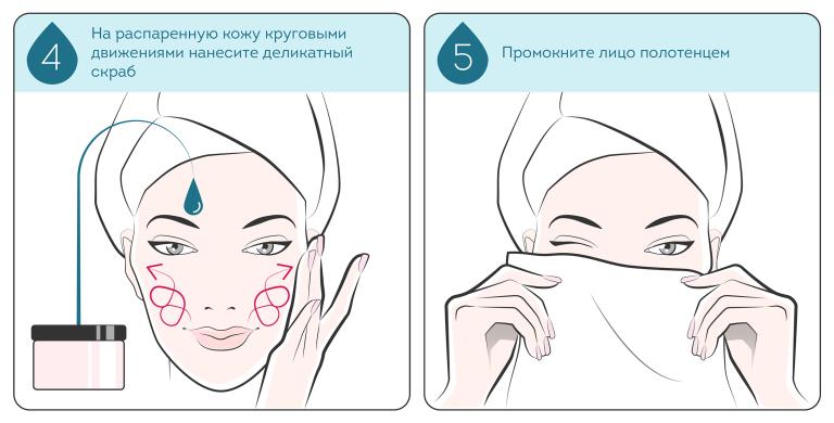 нанесение глубоко очищающей маски для лица