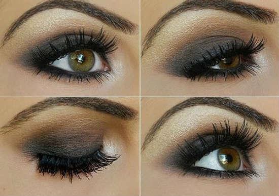 Вечерний макияж для карих глаз