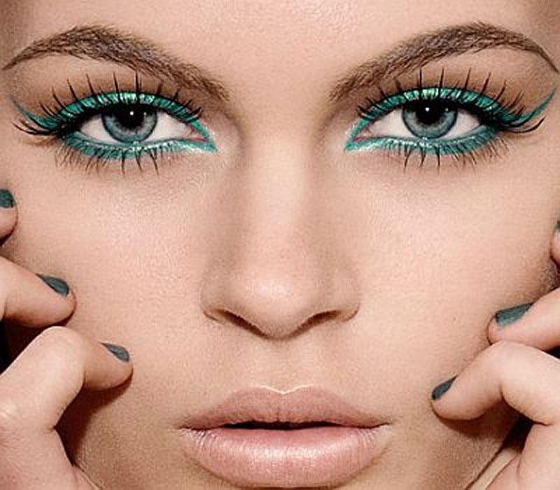 макияж для серо-голубых глаз русалка