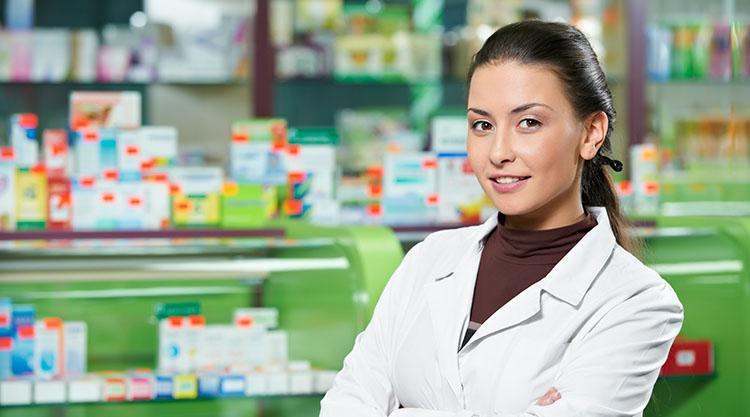 девушка аптекарь