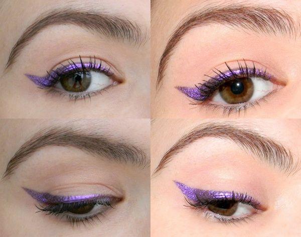 Фиолетовая стрелка для карих глаз