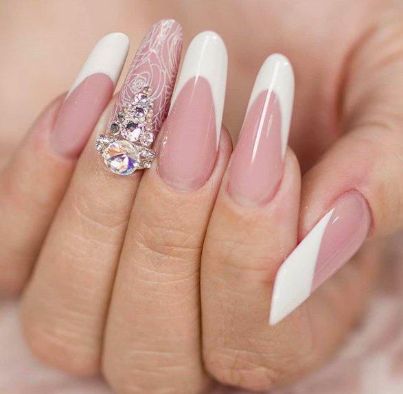 френч для ногтей пайп