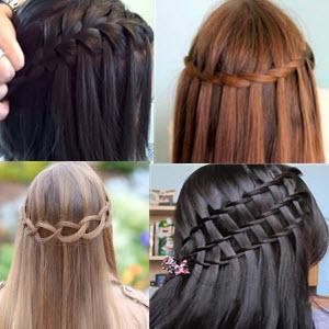 как заплести косу водопад схема фото видео