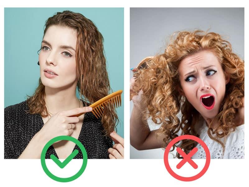 Как расчесывать кудрявые волосы
