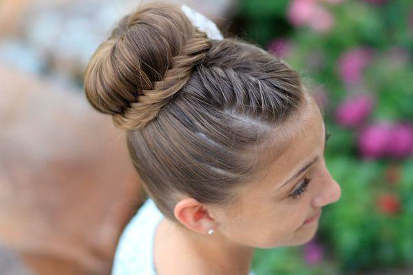 Классический пучок с красивой косой