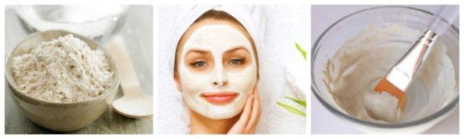 Классический рецепт маски для лица на основе белой глины