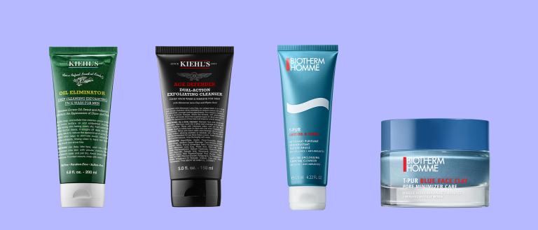 Косметика для очищения жирной мужской кожи