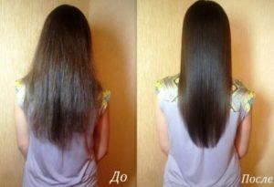 Фото до и после применения масок для волос из кокосового масла