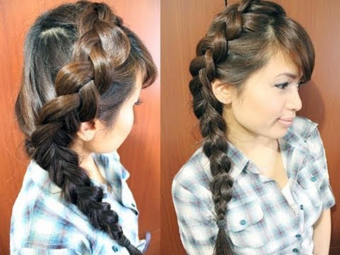 коса на всю длину волос