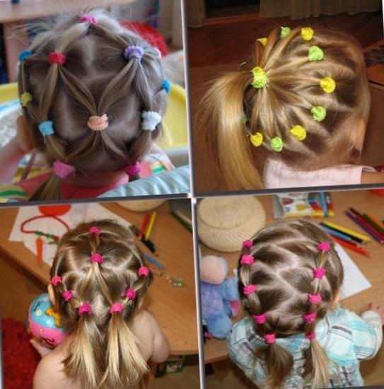 Красивые причёски с короткими волосами для девочек в школу, садик, простые за 5 минут, косички, инструкции с фото