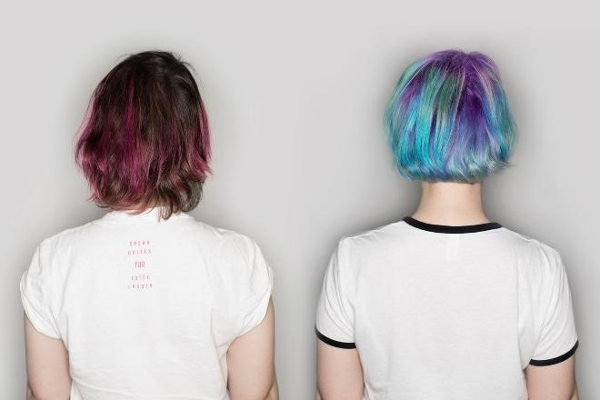 креативное окрашивание волос пигментами