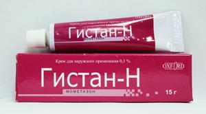 Крем Гистан  поможет избавиться от проявлений аллергических реакций на коже.