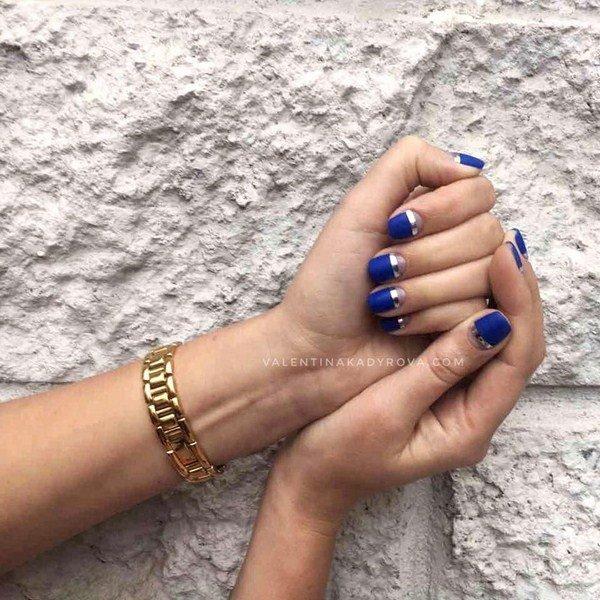 Модный лунный маникюр на короткие и длинные ногти: фото идеи