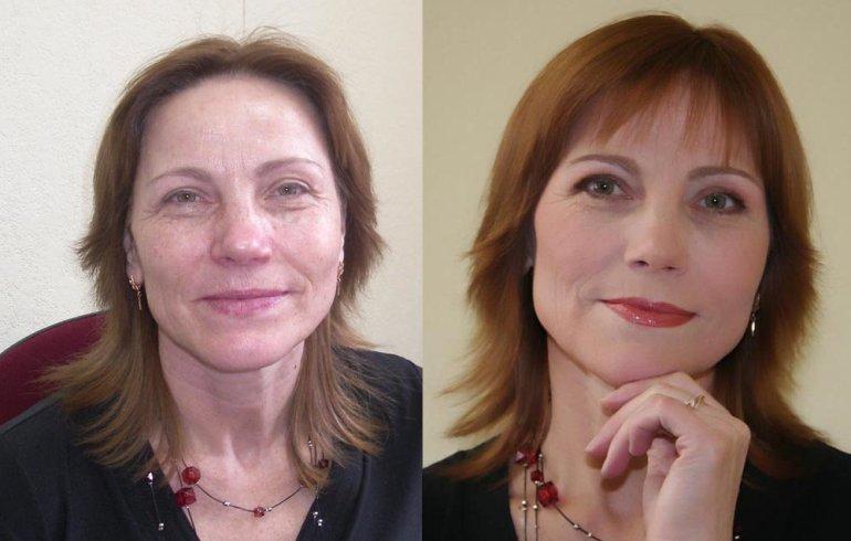 Как сделать омолаживающий макияж кому за 40 в домашних условиях: фото и видео