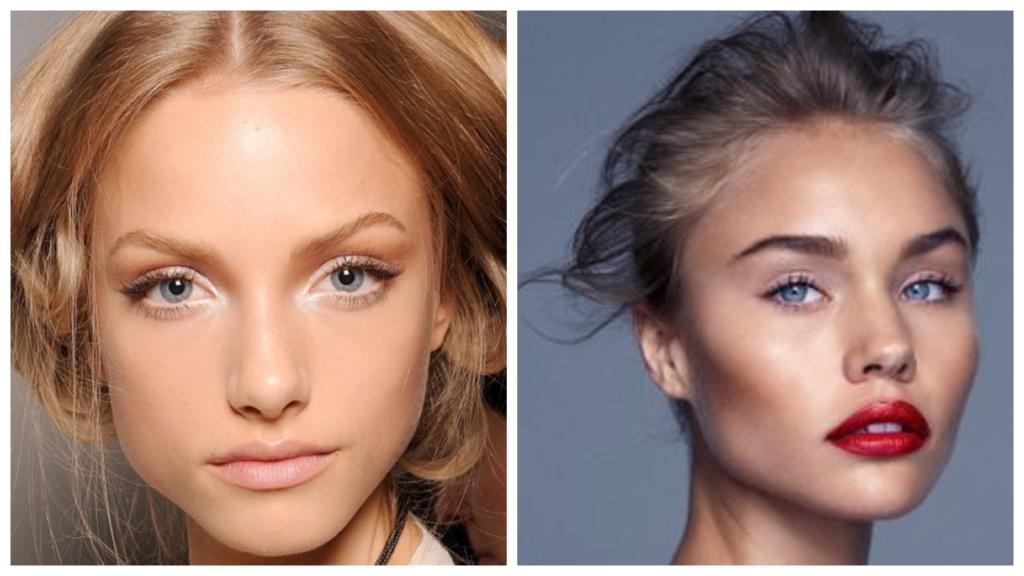 макияж для голубых глаз и русых волос разный