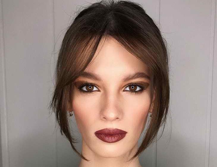 нежный макияж для карих глаз