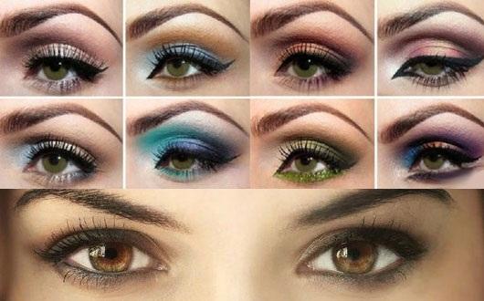 Красивый макияж для зеленых глаз. Фото вечерний, Смоки Айс, повседневный дневной