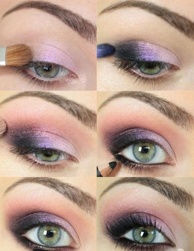 Макияж-Smoky-eyes-для-голубых-глаз