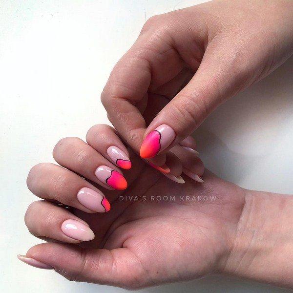 Чудесный маникюр на миндалевидные ногти 2020-2021 года: фото