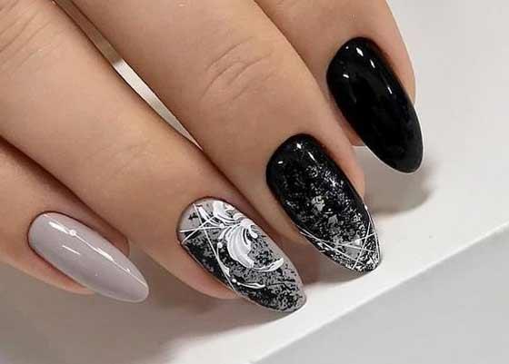 Втирка+новый дизайн ногтей паутинка