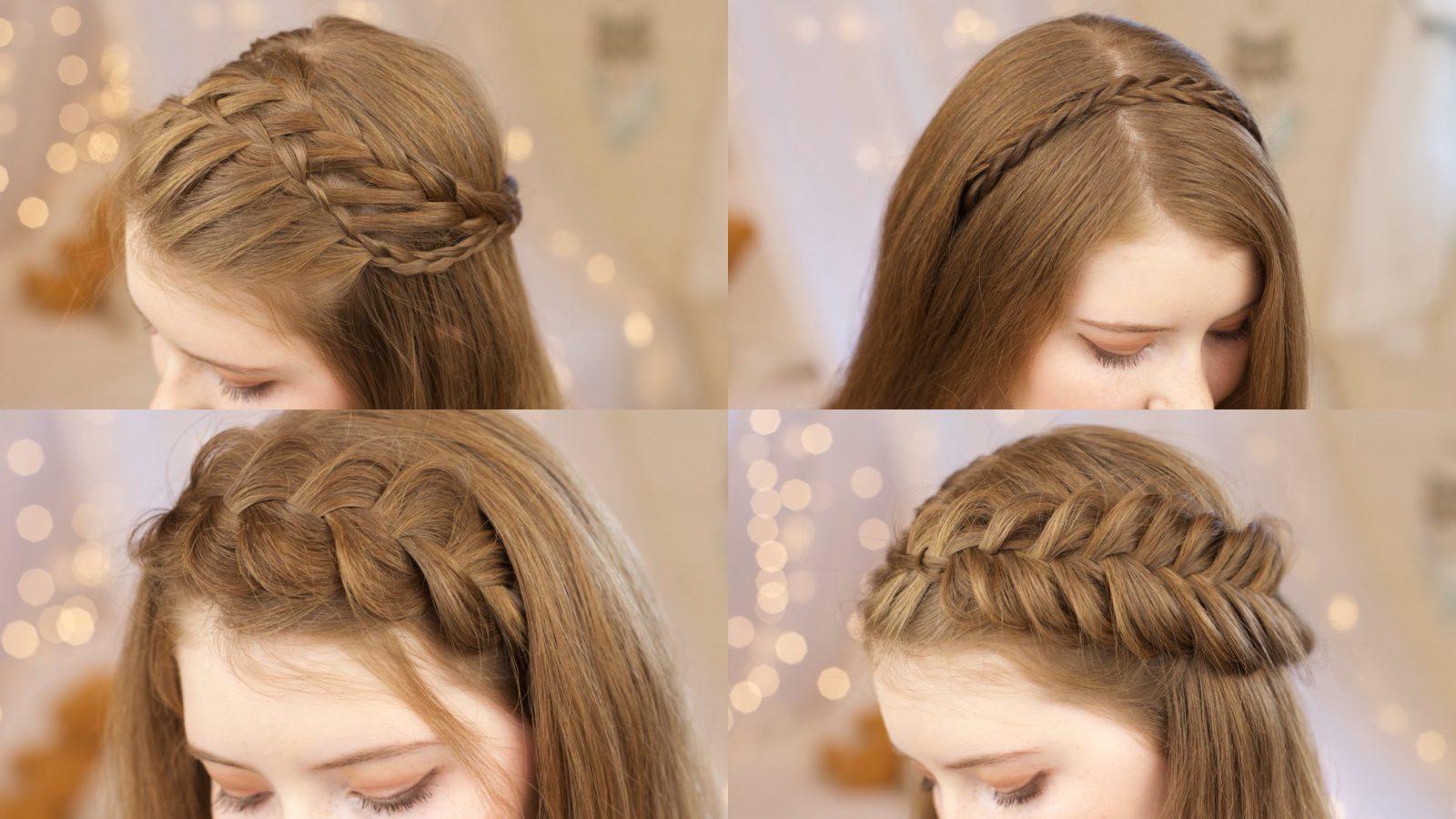 коса вместо челки
