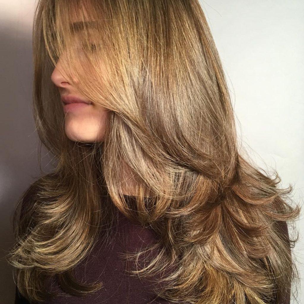 Лесенка на русые волосы