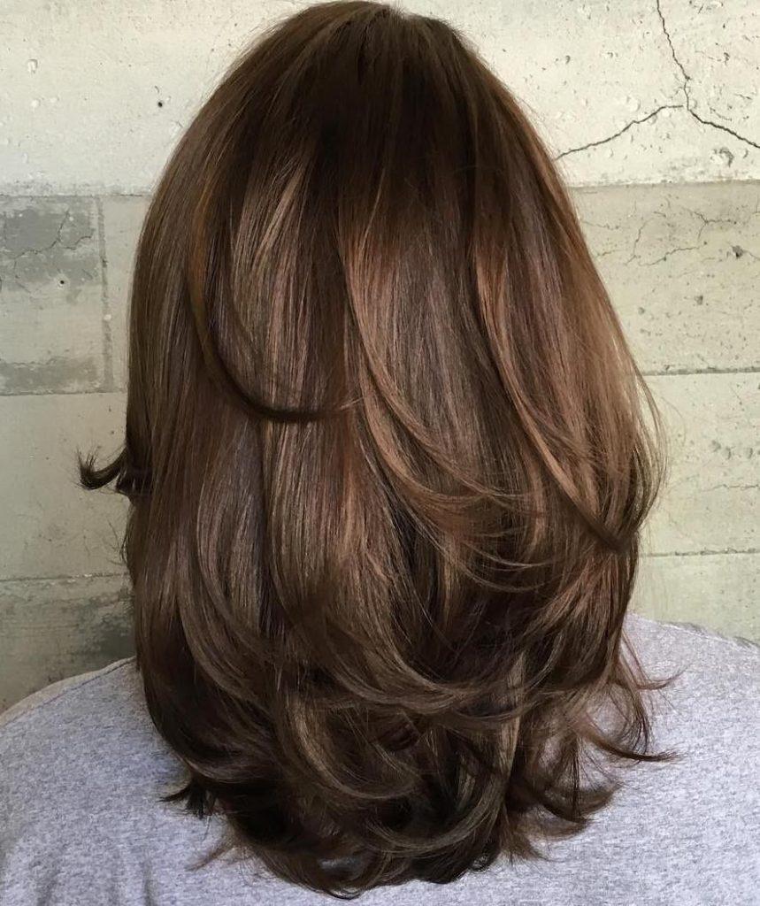 Лесенка для темных волос