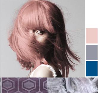 Лиловый цвет волос. Античная роза