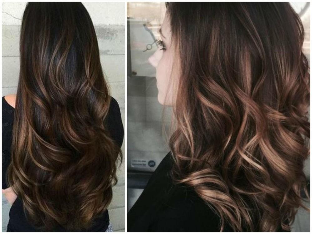 шатуш на русые волосы: длинные