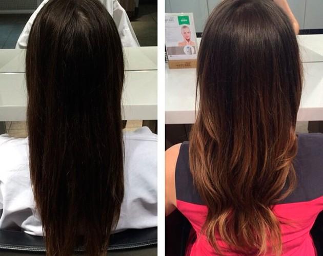 шатуш на темные волосы: длинные