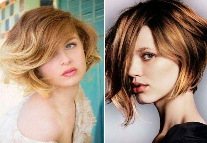 шатуш на короткие волосы: русые