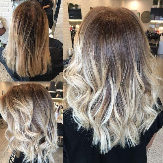 модные варианты окрашивания волос балаяж
